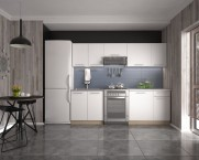 Kuchyňa Daria - 240 cm (biela/dub sonoma)