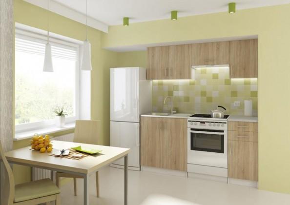 57596423fd330 Kuchyňa Donald - 180 cm (dub sonoma/biela) | OKAY.sk