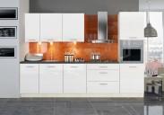 Kuchyňa Emilia - 300 cm (biela/čierna)