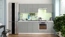 Kuchyňa Emilia Lux - 240 cm (sivá vysoký lesk)