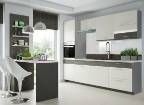 Kuchyňa Fresh - 240 cm (šedá/bielená borovica)