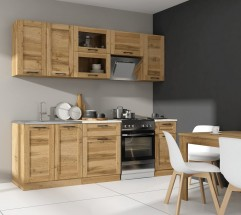 Kuchyňa Jamajka - 240 cm (dub wotan)