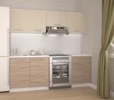Kuchyňa Katia - 220 cm (béžová/dub san marino)