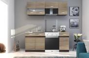 Kuchyňa Larisa - 180 cm (dub sonoma svetlý/tmavý)