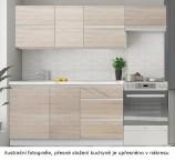 Kuchyňa Line - 180 cm (dub sonoma/biela)