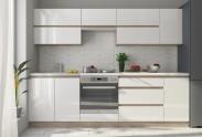 Kuchyňa Line - 260 cm (biela/dub sonoma)