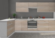 Kuchyňa Line - 260 x 180 cm (dub sonoma/biela)