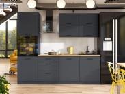 Kuchyňa Lisa - 240 cm (sivá)