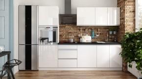 Kuchyňa Maya - 260 cm (biela vysoký lesk)