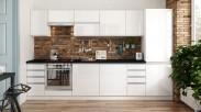Kuchyňa Maya - 320 cm (biela vysoký lesk)