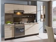 Kuchyňa Nina - 210 cm (jasan coimbra/dub tmavý)
