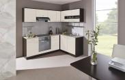 Kuchyňa Nina - 220 x 160 cm (woodline creme/dub tmavý/piesok)