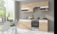Kuchyňa Rio - 240 cm (dub san remo/biela)