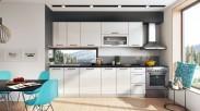 Kuchyňa Roxy - 300 cm (biela/čierna)