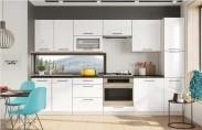 Kuchyňa Roxy - 300 cm (biela vysoký lesk/čierna)