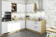 Kuchyňa Sabrina - 240x200 cm (biela/dub arlington)