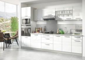 Kuchyňa Vicky - 300 cm (biela vysoký lesk)