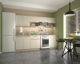 Kuchyňa Viola - 260 cm (vanilka/dub sonoma/béžová)