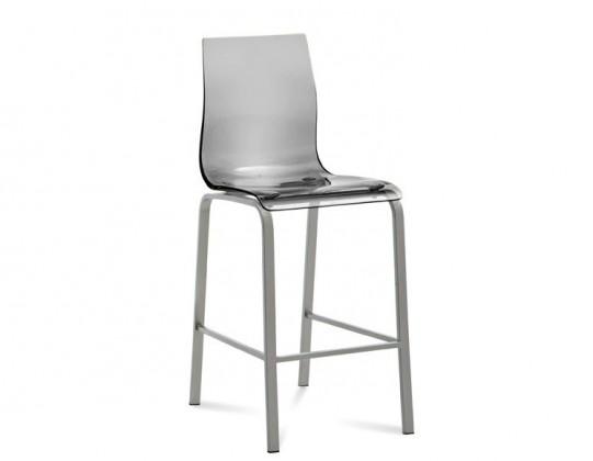 Kuchyne, jedálne ZĽAVNENÉ Gel-R-Sgb - Barová stolička (hliník, priehľadná)