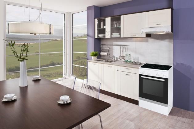 Kuchyne, jedálne ZLACNENÉ Aneta - 210A + 150cm PD (dub tmavý, vanilka, piesok)
