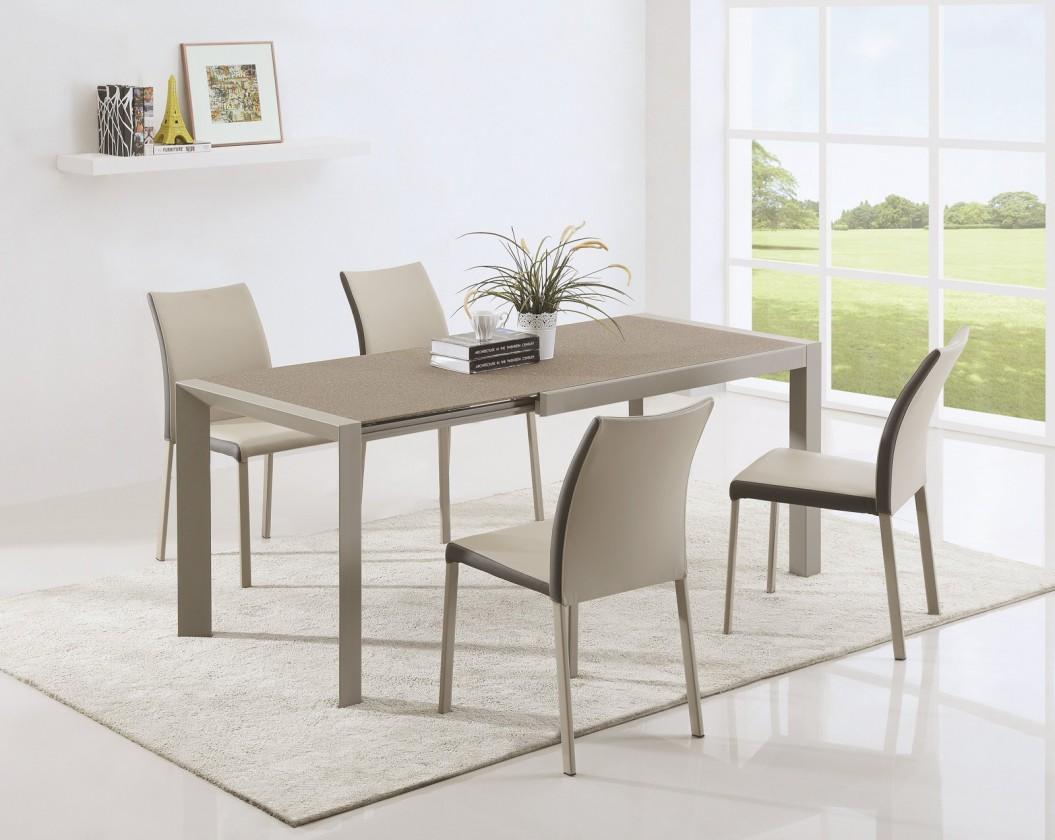 Kuchyne, jedálne ZLACNENÉ Arabis 2 - Jedálenský stôl 120-182x80 cm (svetlo hnedá, béžová)