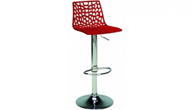 Kuchyne, jedálne ZLACNENÉ Barová stolička Spider (červená) - VYSTAVENÉ