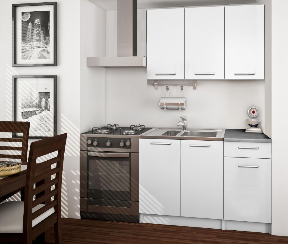 Kuchyne, jedálne ZLACNENÉ Basic - Kuchynský blok A 120 cm, biela