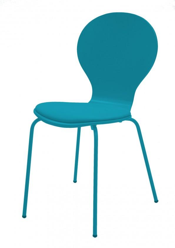 Kuchyne, jedálne ZLACNENÉ Flower - Jedálenská stolička, sedák (petrolejová, eko koža)