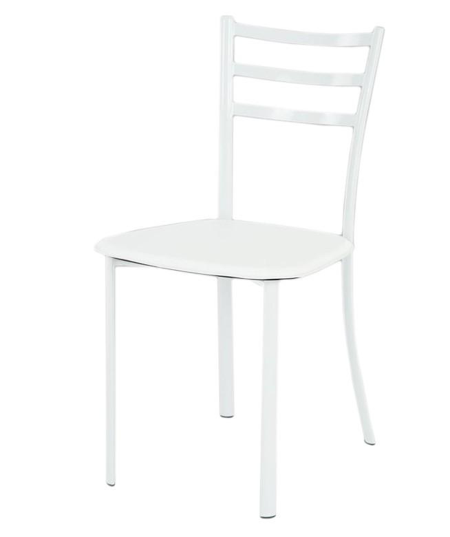 Kuchyne, jedálne ZLACNENÉ Jedál. stolička Jackie (koženka biela/biely lesk) - II. akosť
