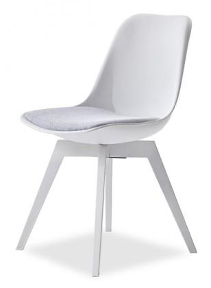 Kuchyne, jedálne ZLACNENÉ Jedálenská stolička GRACE + BESS (biela,sivá) - ROZBALENÉ