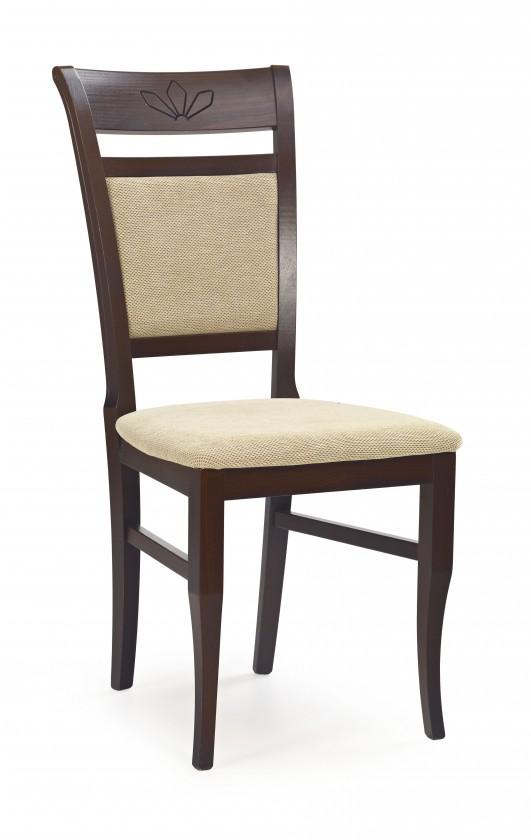 Kuchyne, jedálne ZLACNENÉ Jedálenská stolička Jakub (orech tmavý/bežová) - ROZBALENÉ