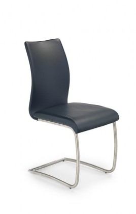Kuchyne, jedálne ZLACNENÉ Jedálenská stolička K181(nerez oceľ/eko koža čierna) - II. akosť