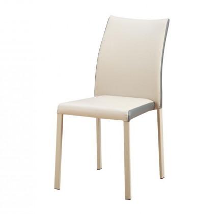 Kuchyne, jedálne ZLACNENÉ Jedálenská stolička K182 (eko koža béžová,sivá,ocel) - II. akosť