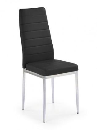 Kuchyne, jedálne ZLACNENÉ Jedálenská stolička K70C (čierna, chróm) - II. akosť