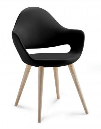 Kuchyne, jedálne ZLACNENÉ Jedálenská stolička Soft-L  (čierna) - II. akosť