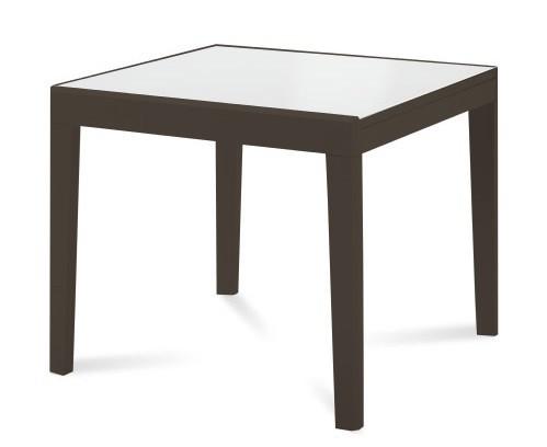 Kuchyne, jedálne ZLACNENÉ Jedálenský stôl Asso 90 (extra biela, wenge) - II. akosť