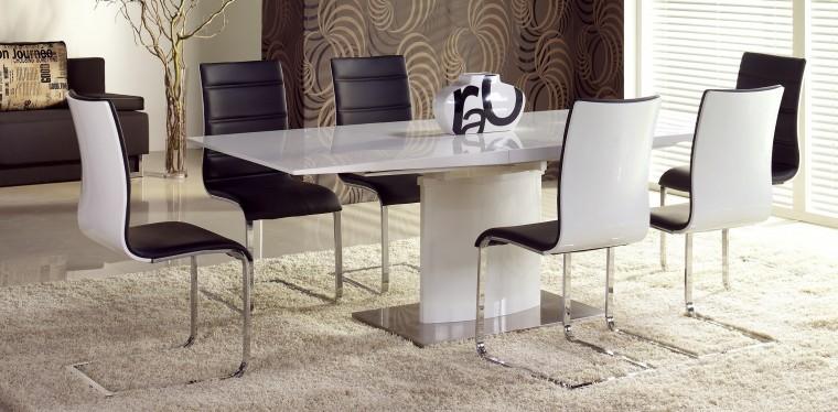 Kuchyne, jedálne ZLACNENÉ Jedálenský stôl Marcello (biela) - II. akosť