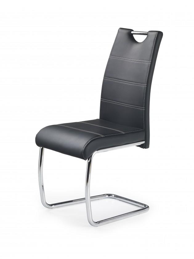 Kuchyne, jedálne ZLACNENÉ K211 - Jedálenská stolička (čierna, strieborná)