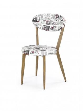 Kuchyne, jedálne ZLACNENÉ K215 - Jedálenská stolička (potlač, dub