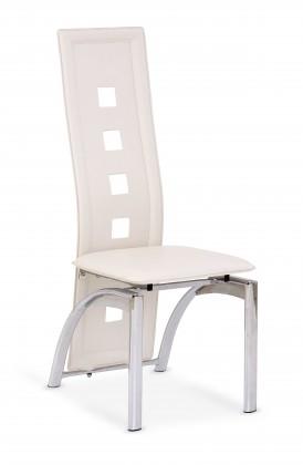 Kuchyne, jedálne ZLACNENÉ K4 - Jedálenská stolička (krémová, strieborná)
