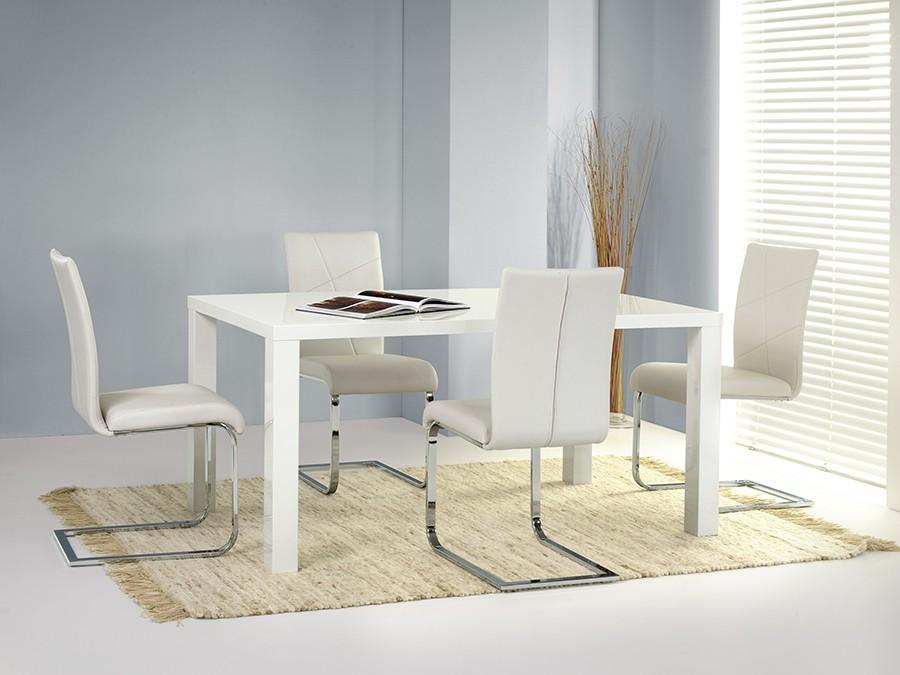 Kuchyne, jedálne ZLACNENÉ Ronald - Jedálenský stôl, rozkladací 80x120-160 (biela)