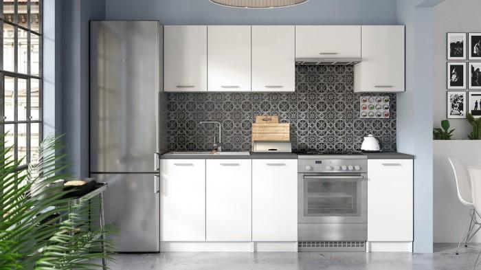 Kuchynská linka Eco 220 cm (biela)