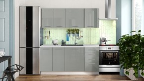 Kuchynská linka Emilia Lux 180 cm (sivá lesklá)