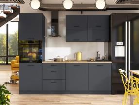 Kuchynská linka Lisa 240 cm (sivá)