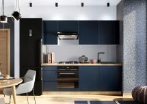 Kuchynská linka Minea 220 cm (modrá mat)