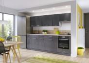 Kuchynská linka Modern Lux 240 cm (sivá vysoký lesk)