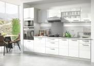 Kuchynská linka Vicky 300 cm (biela vysoký lesk)