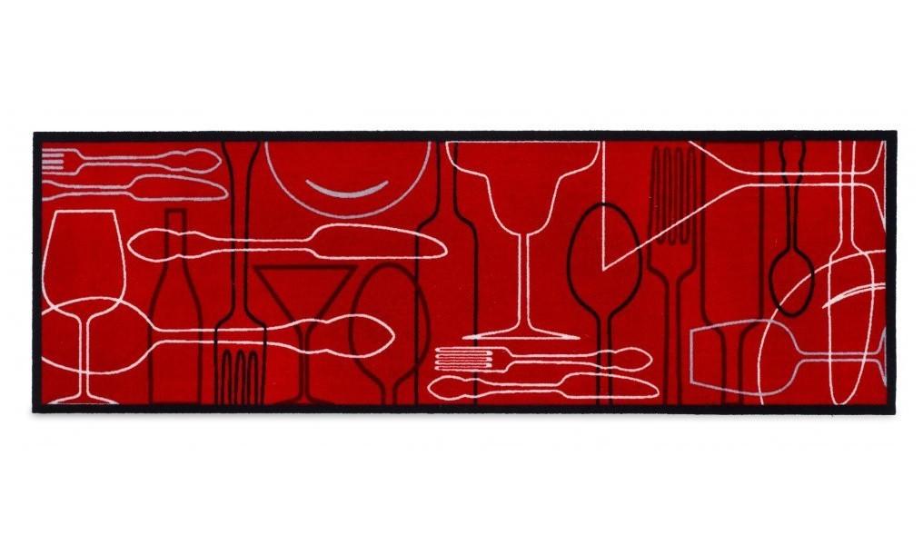 Kuchynská predložka Cosy table (červená)