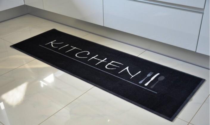 Kuchynská predložka Kitchen (čierná)