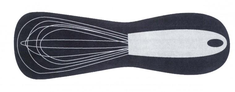 Kuchynská predložka whisk (sivá, čierna)
